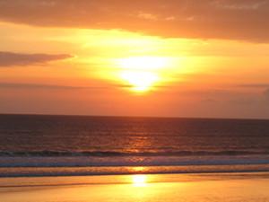 sunset over ocean in bali