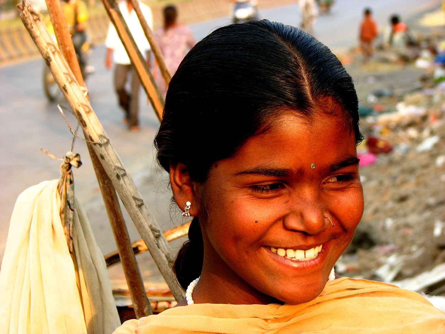 indian woman smiling a radiant smile