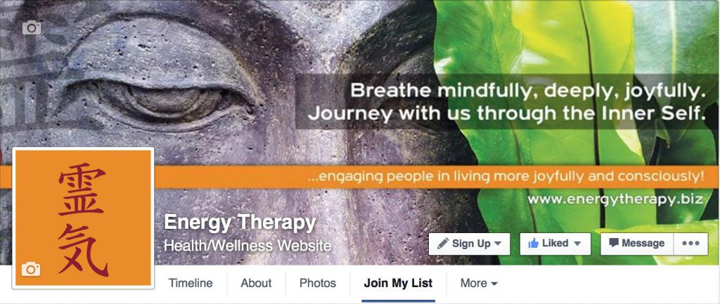 Energy Therapy Facebook Page
