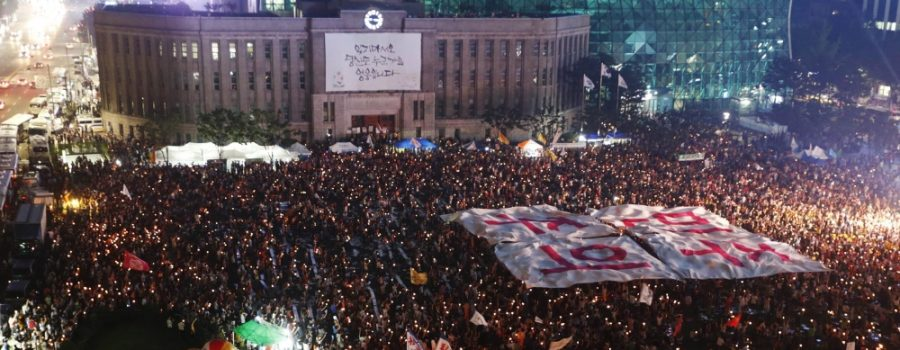 millions south koreans protest shadow government