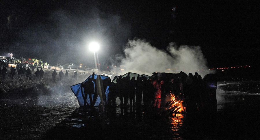 watercannons used at dapl protest