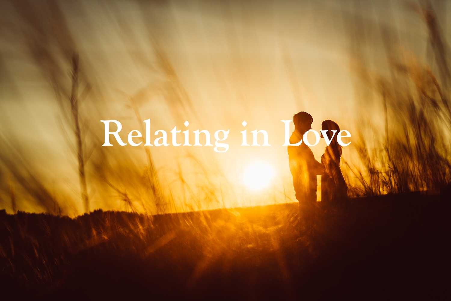 romantic silhouette couple standing kissing