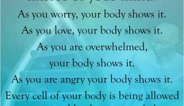 Your body is an absolute mirror of your mind…