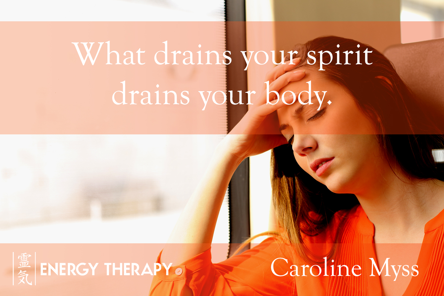 What drains your spirit drains your body...