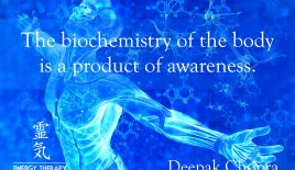The biochemistry of the body is a product of awareness.