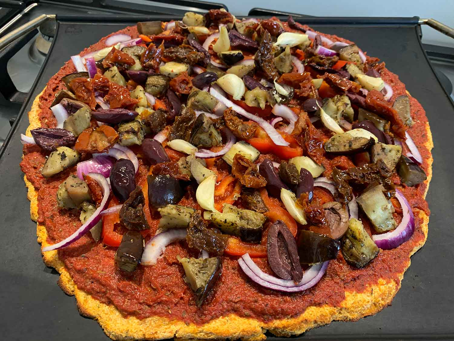 Sweet Potato Pizza Crust! Delicious and Healthy!