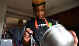 This 13-year-old opened a bakery. For every cupcake he sells, he gives one to the homeless.