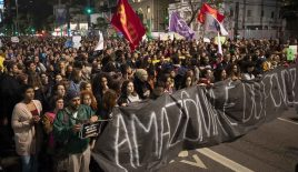 Brazilian protesters rail against Bolsonaro as Amazon fires rage on