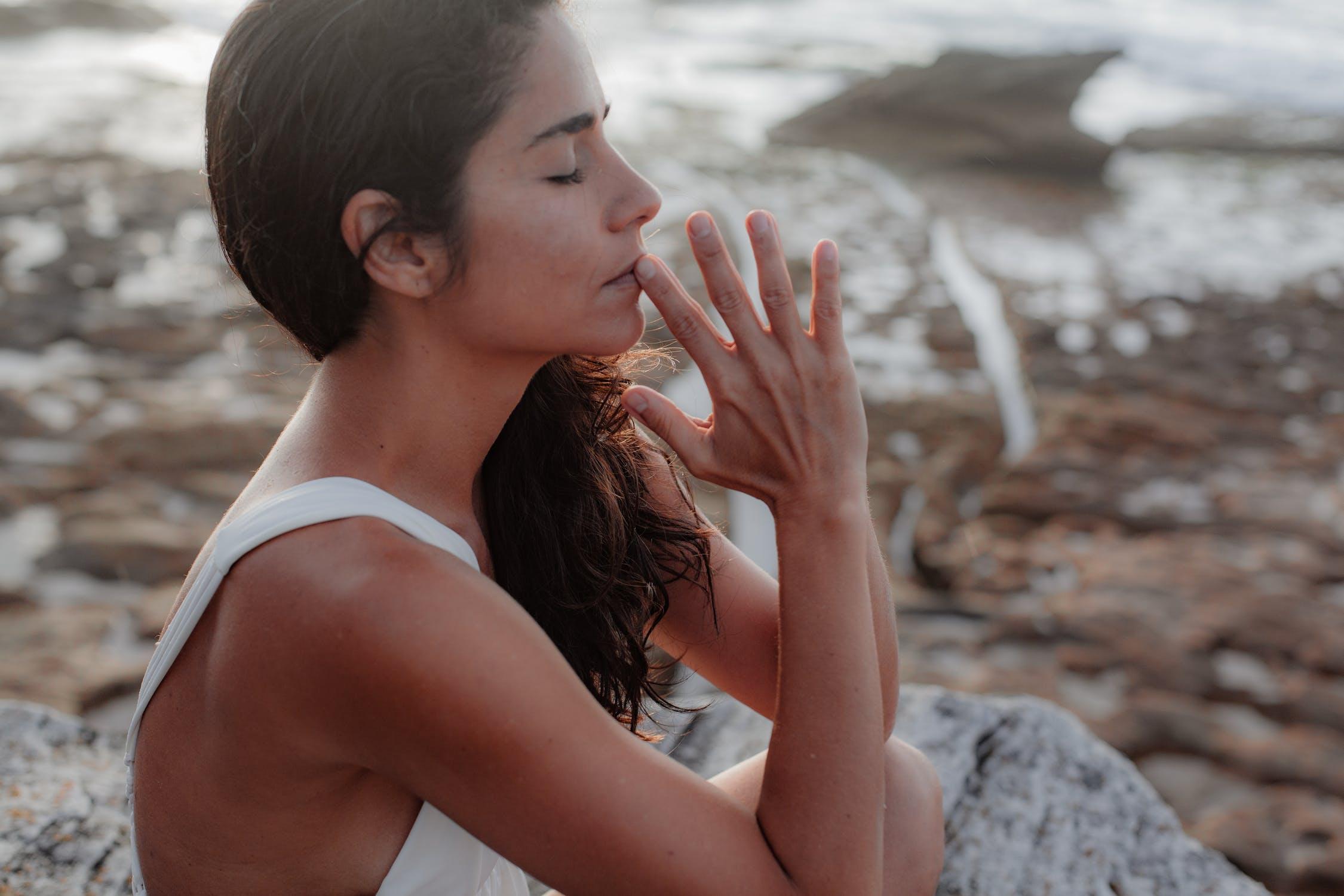 yogi in deep prayer