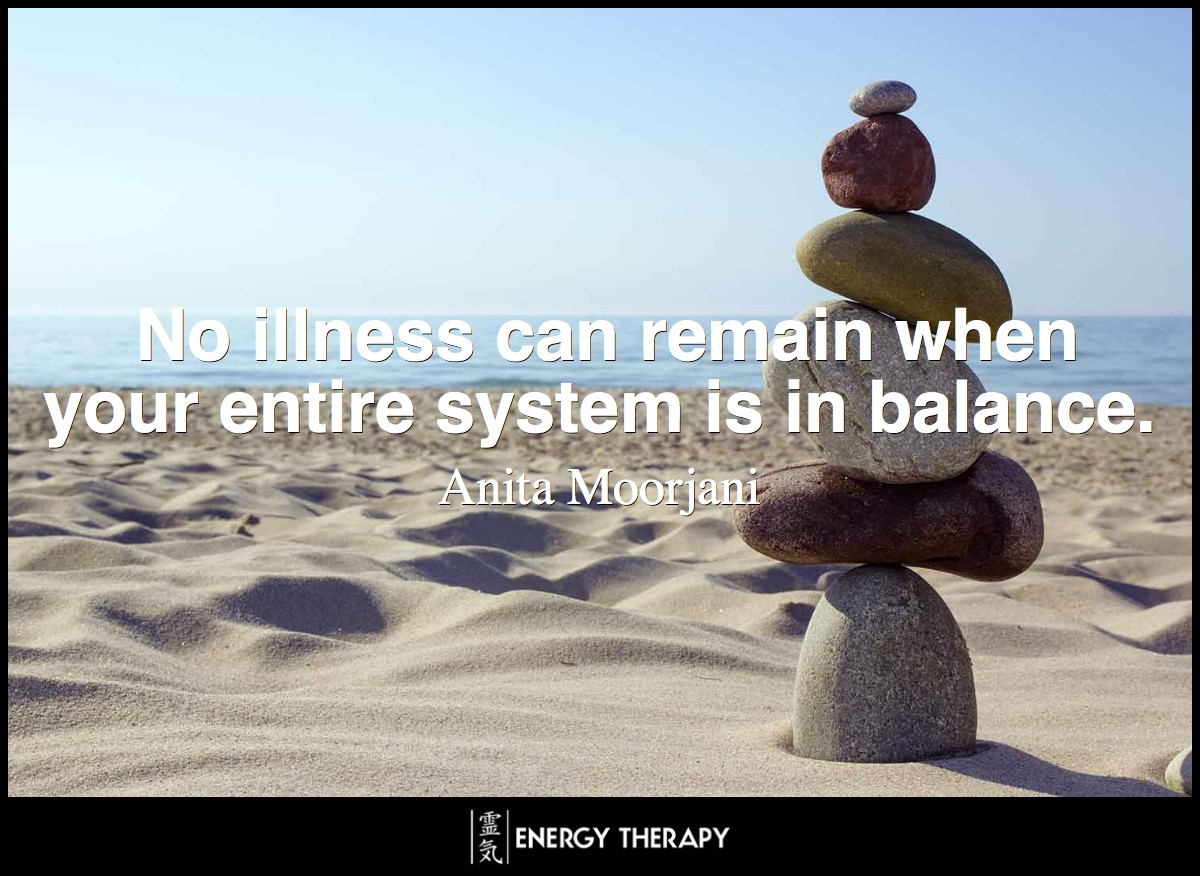 Cancer is just a word that creates fear. Forget about that word, and let's just focus on balancing your body. No illness can remain when your entire system is in balance.
