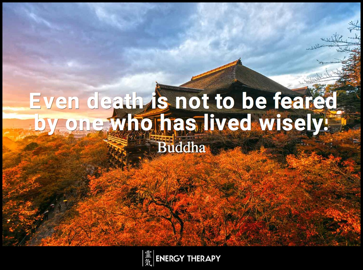 Even death is not to be feared by one who has lived wisely. ~ Buddha