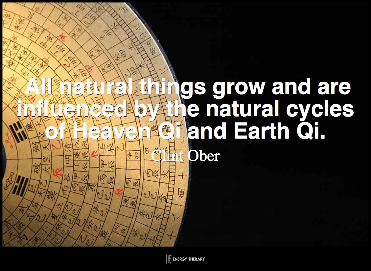 All natural things grow and are influenced by the natural cycles of Heaven Qi and Earth Qi. ~ Clint Ober