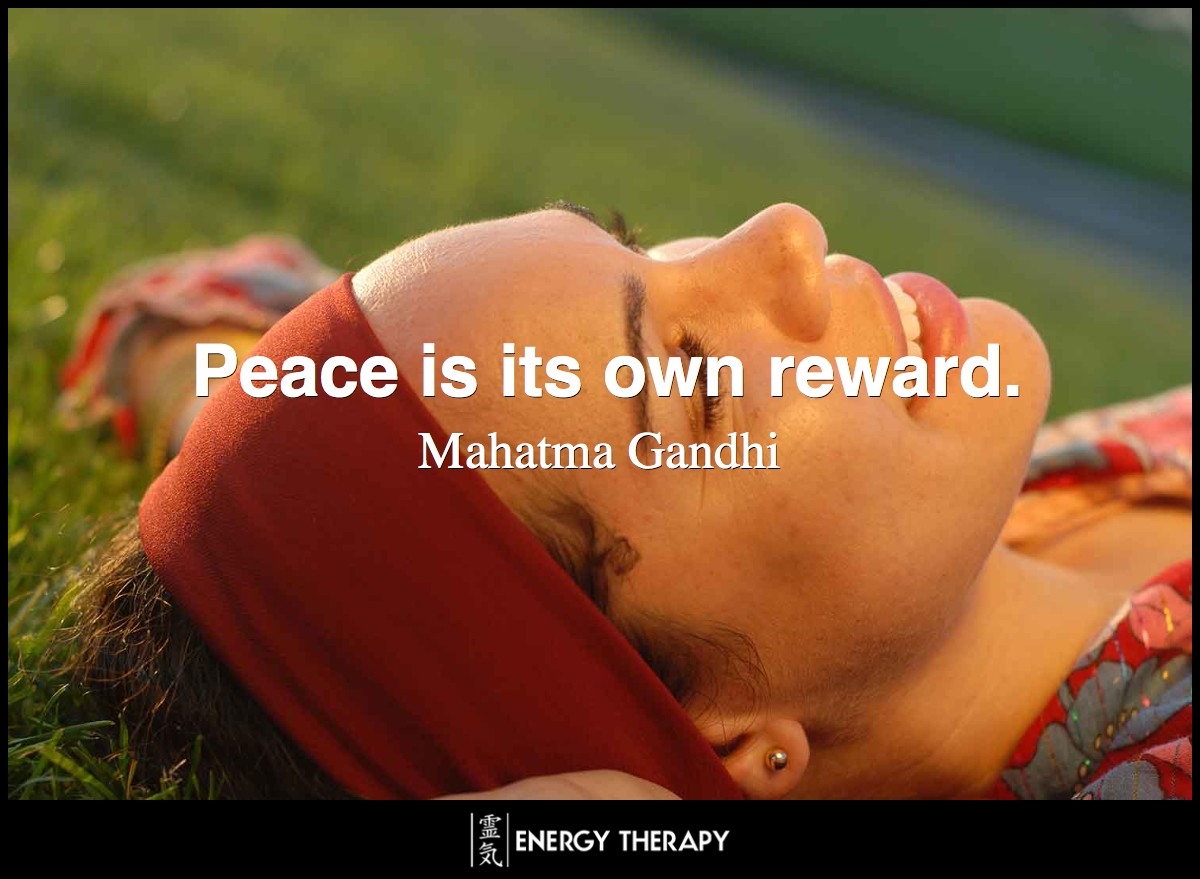 Peace is its own reward.