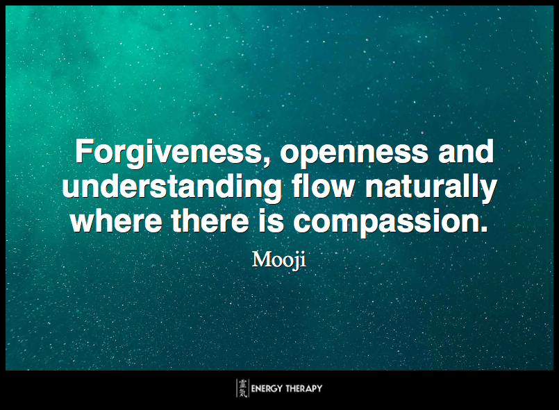 Forgiveness, openness and understanding flow naturally where there is compassion. ~ Mooji
