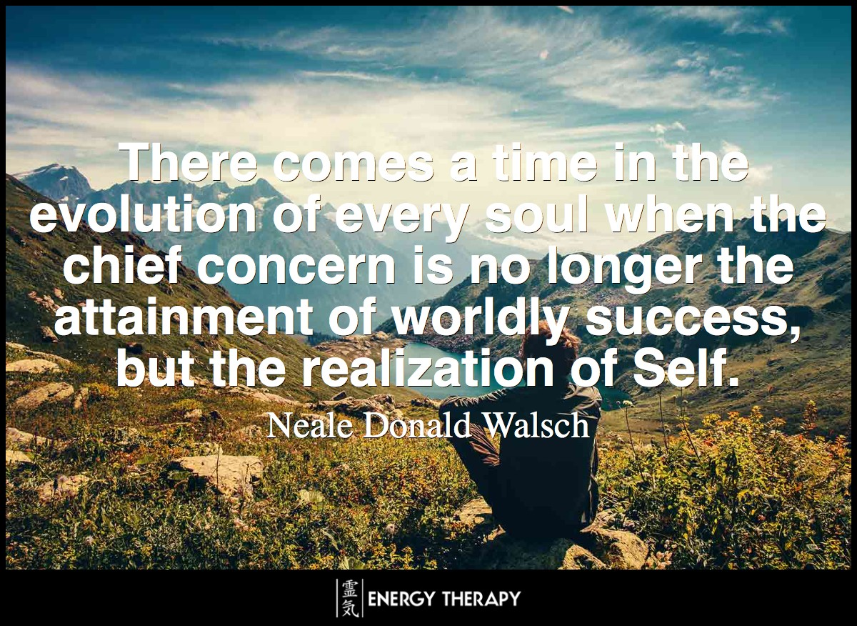 There comes a time in the evolution of every soul when the chief concern is no longer the attainment of worldly success, but the realization of Self.