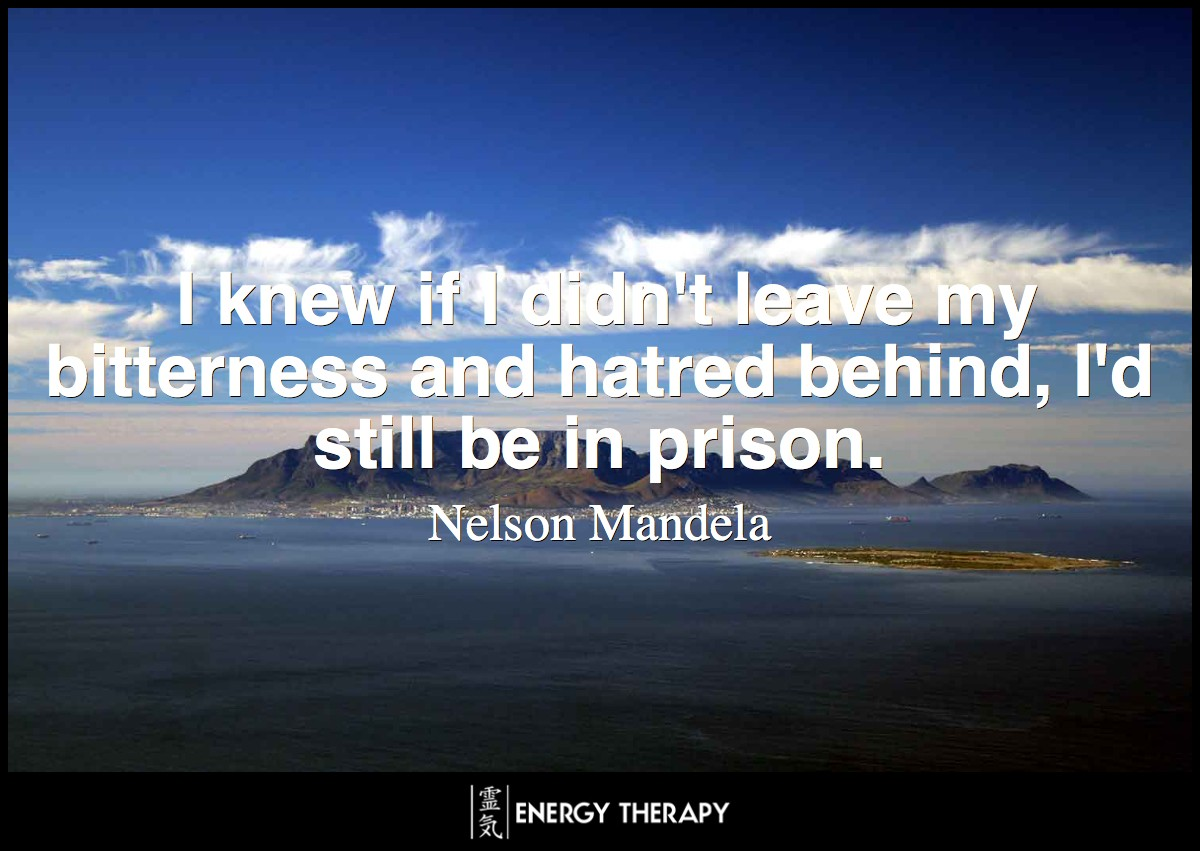 As I walked out the door toward the gate that would lead to my freedom, I knew if I didn't leave my bitterness and hatred behind, I'd still be in prison. ~ Nelson Mandela