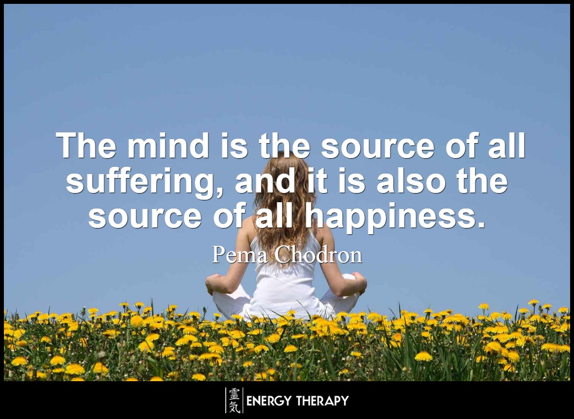 The mind is the source of all suffering, and it is also the source of all happiness - Pema Chödrön