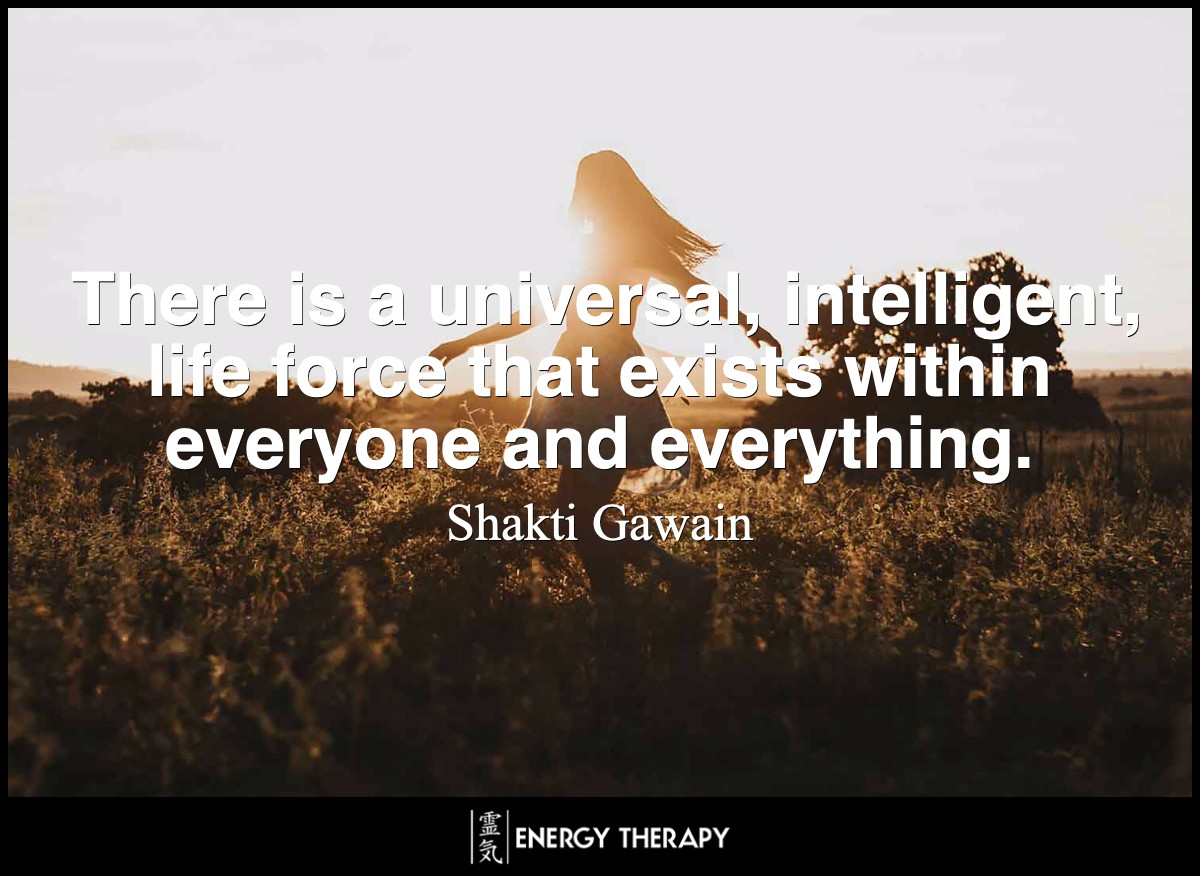 There is a universal, intelligent, life force that exists within everyone and everything.