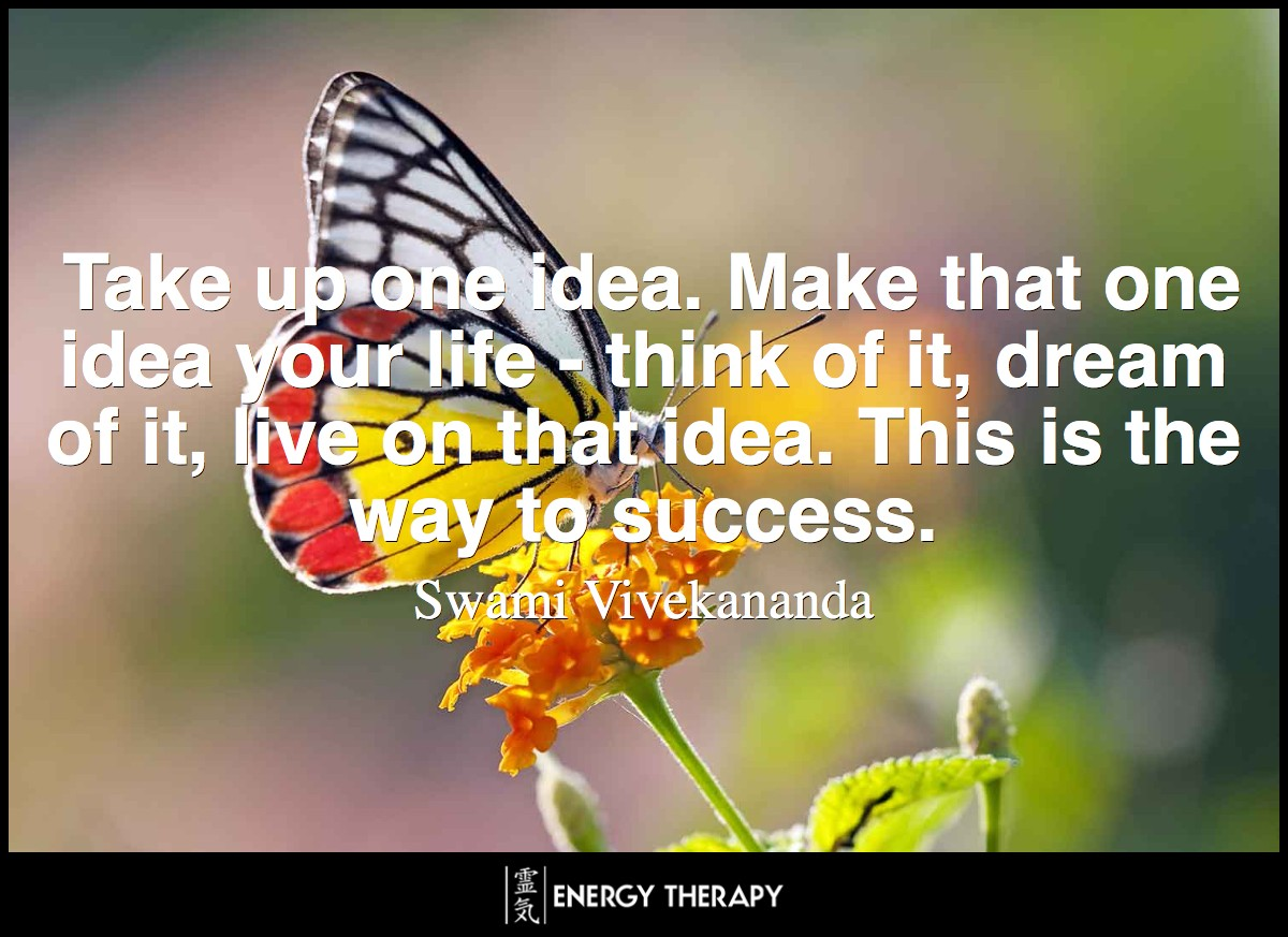 Take up one idea. Make that one idea your life - think of it, dream of it, live on that idea. This is the way to success.